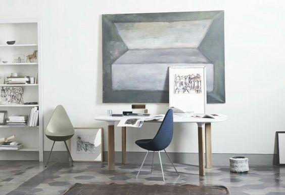 La chaise drop de Fritz Hansen, une pure merveille!