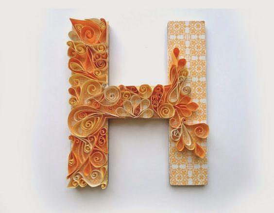 Letras con relieve manualidades para el dia de la madre - Manualidades decorativas para el hogar ...