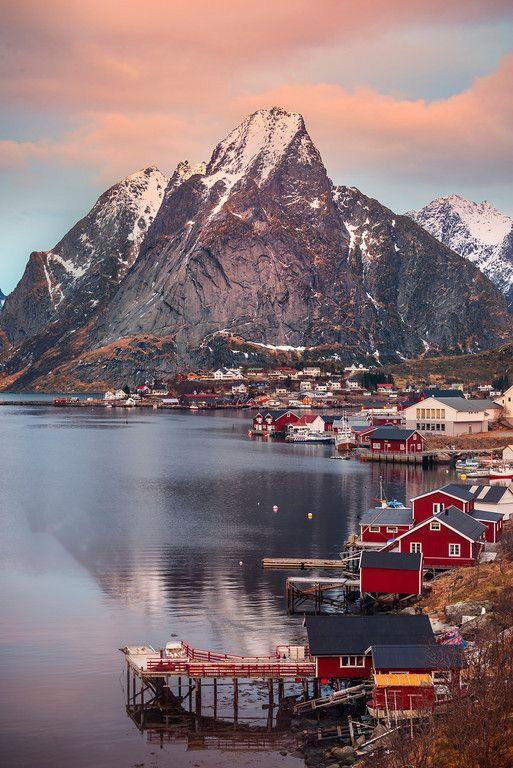Reine at Sunset,Lofoten Islands, Norway.