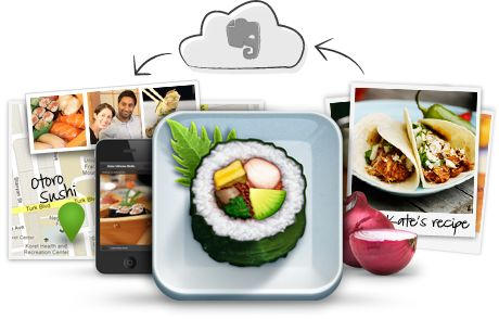 Evernote's Food app is an easy way to capture gastronomic experiences or to use as a simple food tracker.