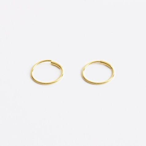 S Basic Hoop Earring - Gold 14K