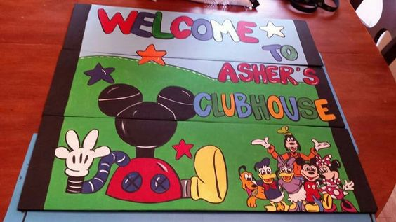 Mickey mouse yard sign by araesly