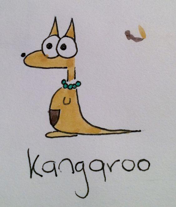Kangaroo cartoon