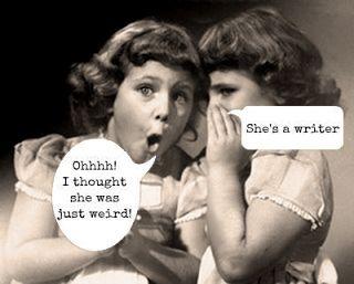 """schrijvers zijn toch helemaal niet """"weird"""""""