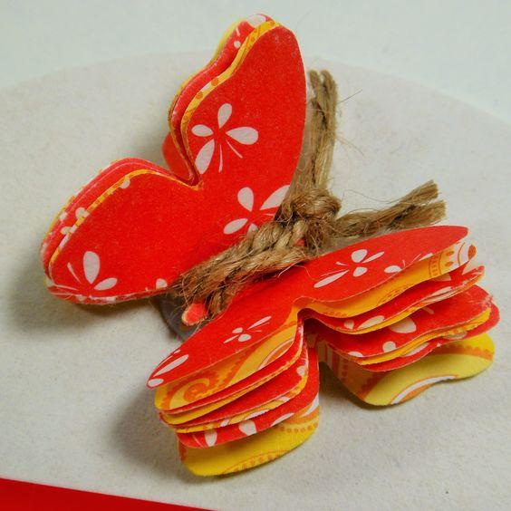 Schmetterling #schmetterling #diy #papier                                                                                                                                                      Mehr