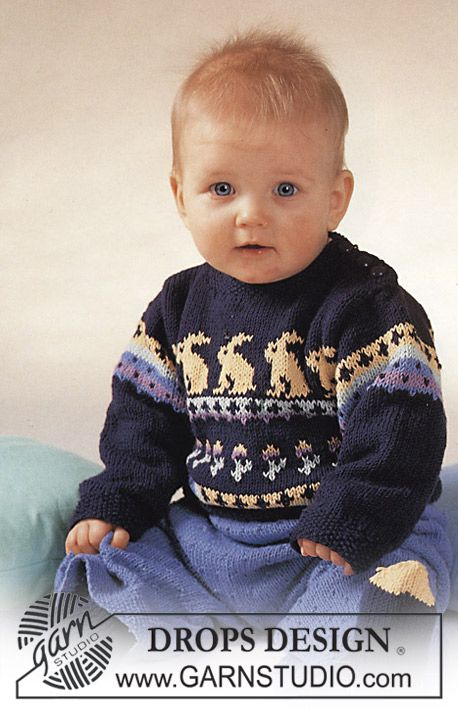 f79a1ec26995 Craft Passions  Gorgeous baby jumper with rabbit motif ~ FREE ...