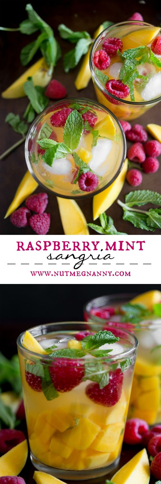 This raspberry mango sangria is the perfect addition to your Easter ...