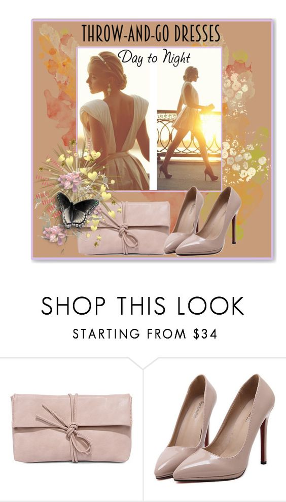 """""""Easy Peasy: Throw-and-Go Dresses"""" by slynne-messer ❤ liked on Polyvore featuring LULUS and WithChic"""