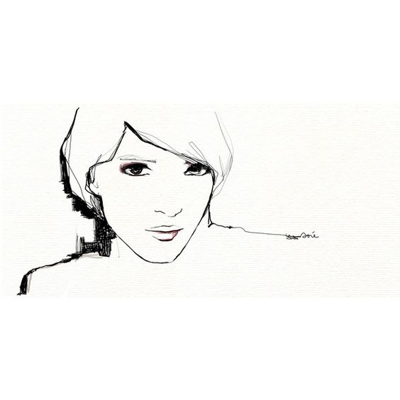 Garance Doré ❤ liked on Polyvore featuring illustrations, drawings, illustration, sketch and backgrounds