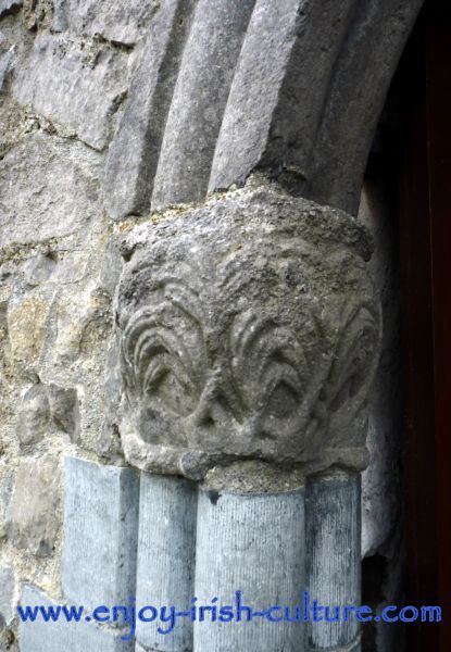 Athenry Castle in County Galway, Ireland, is one of the best preserved Norman Castles in Ireland. Detail of stone carving at the entrance door. Click on the photo to find out all about the castle including visitor information and features.