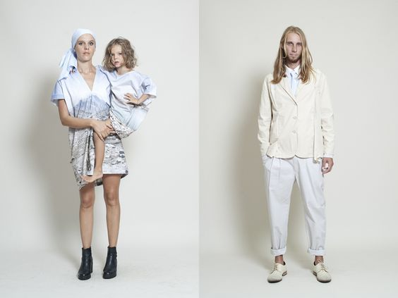 Marios S12 'Nowhere' collection. Not my kinda silhouette, but the photo printing is SO beautiful.