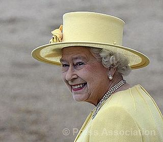The Queen on Horseguards' Parade during the annual Trooping the Colour  parade to mark her official birthday, 16 June 2012.