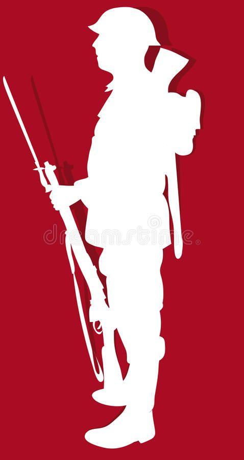 Ww1 Soldier Silhouette Of First World War Soldier Affiliate Silhouette Soldier Soldier War World Ad Soldier Silhouette Ww1 Soldiers Soldier