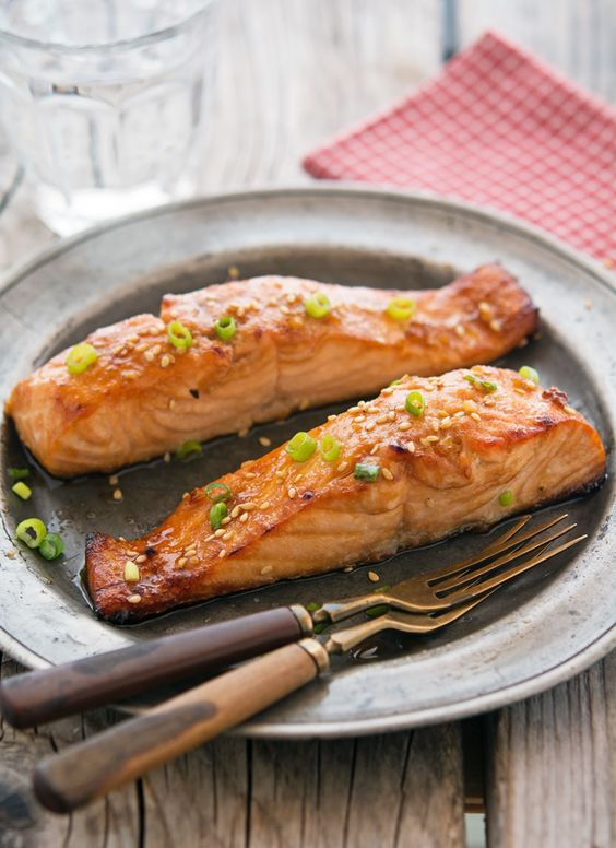 salmon with ginger ginger honey and more honey glaze glaze salmon ...