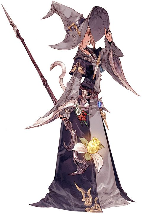 Miqo'te Female Conjurer from Final Fantasy XIV: A Realm Reborn     CHARACTER DESIGN REFERENCES
