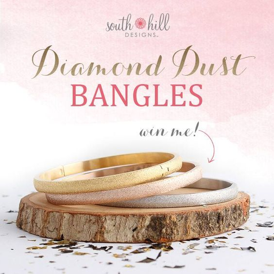 Bangles in silver, gold or rose gold tones. http://SouthHillDesigns.com/TammyTamayo