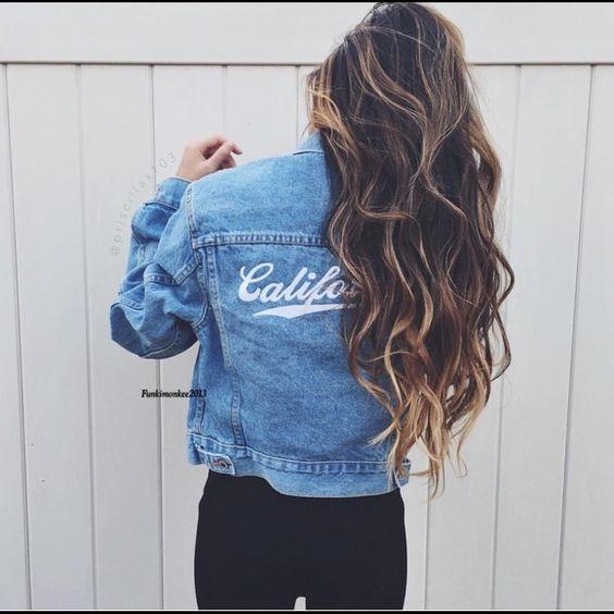 Brandy Melville California denim jacket NWT Brandy Melville Jackets & Coats