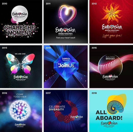 Logtipos Eurovision ultimos 9 años