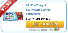 Tri Cities On A Dime: SAVE $2.50 ON ANY 2 STONYFIELD YOKIDS SQUEEZERS
