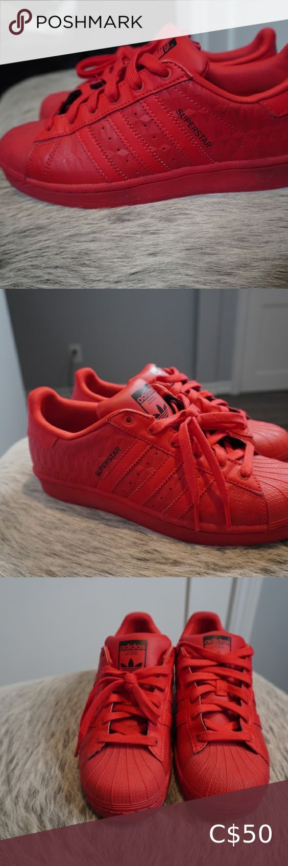 ADIDAS SHELL TOE RED in 2020 | Adidas