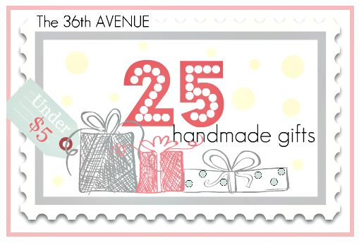 A page with 25 handmade gifts! They are all so cute and look pretty easy!