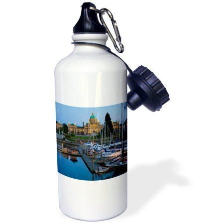 3dRose The inner harbor at Victoria British Columbia-CN02 CHA0009 - Chuck Haney, Sports Water Bottle, 21oz