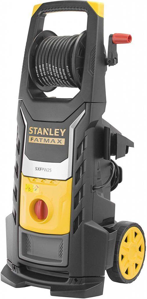 Stanley Fatmax Sxfpw25pe Nettoyeur Haute Pression 2500w 150 Bar 450l H Moteur Induction Corps Laiton Et Grande Roues Grandes Roues Nettoyeur Grande Roue