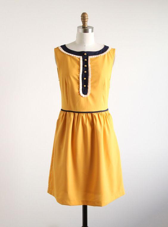 Mustard Julie Dress by Dear Creatures | Salvage Life