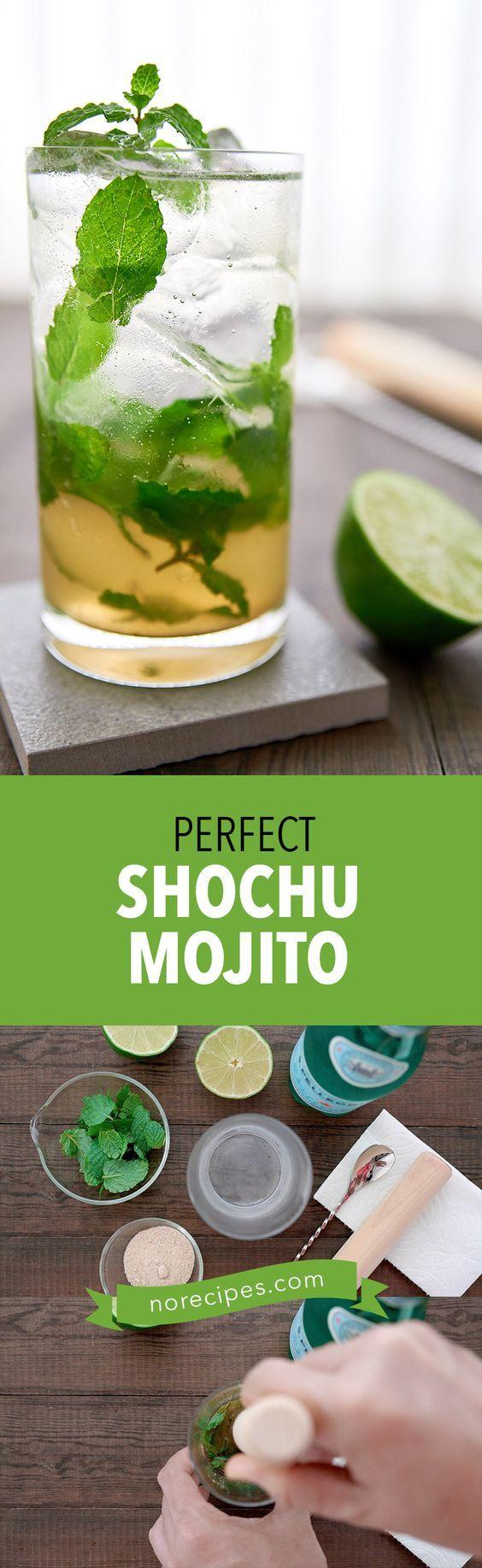 Shochu Mojito Recipe Step By Step Mojito Video Shochu Easy Drink Recipes Mojito Recipe