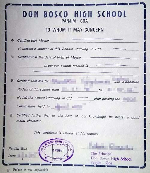 Bonafide Certificate Letter To Principal For Bonafide Certificate For Aadhar Card Aadhar Card Lettering Bio Data For Marriage