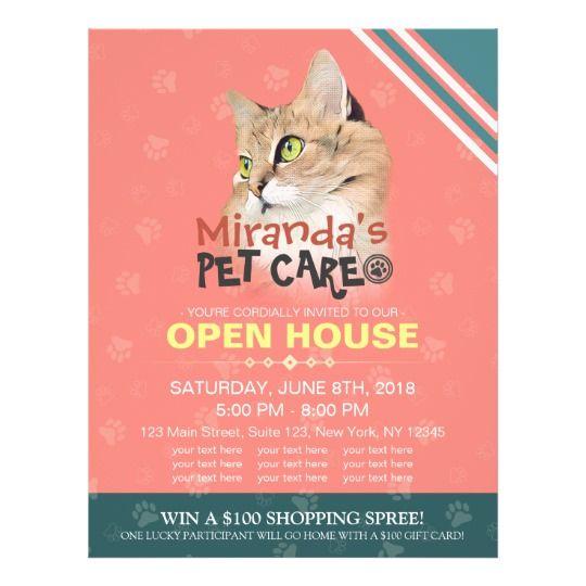 Pet Care Grooming Shop Pet Beauty Salon Open House Flyer Zazzle Com Pet Care Pet Insurance Reviews Pet Insurance Cost