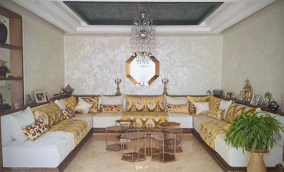 Pin By Jamila Na On Salon Marocain Colorful Eclectic Living Room Living Room Design Decor Moroccan Living Room