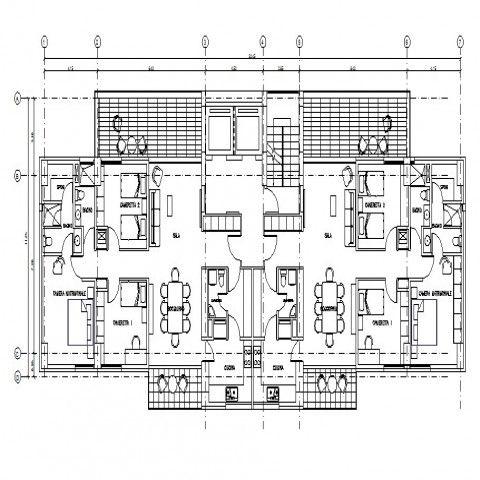 Semi Furnished House Floor Plan Details 2d Drawing In Autocad Software House Floor Plans Floor Plans House Flooring