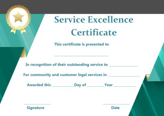 Customer Service Award Certificate 10 Templates That Give You Perfect Words To Award Template Sumo Award Template Award Certificates Service Awards