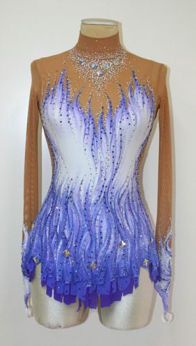 Custom leotard by paint your dreams (Looks so similar to evgenia's ribbon suit :) )