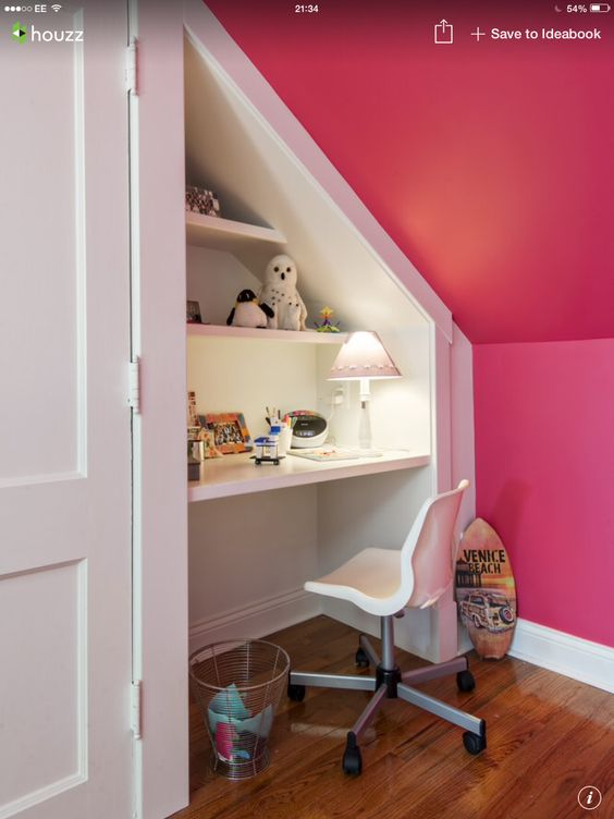 Girls dressing tables and good ideas on pinterest for Eaves bedroom ideas