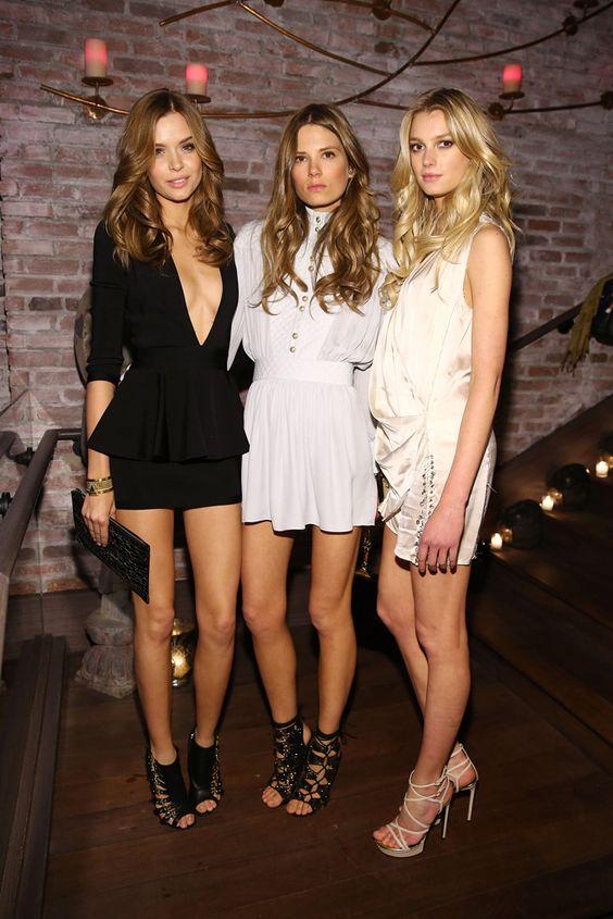 Top looks: Los 7 días de las celebrities--------Caroline Brasch Nielsen, Josephine Skiver y Sigrid Agren