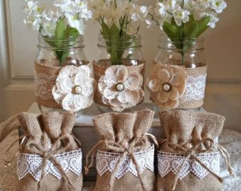 Lace Rustic Favor Bags, Rustic Wedding Bag , Wedding Favor Bag ,Burlap Favor Bag ,Wedding Bag,wedding,Bridal Shower, Baby Shower Favor Bags.