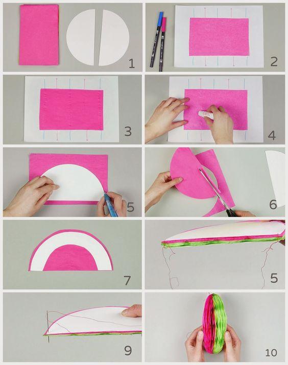 Facilisimo manualidades de papel bolas de nido de abeja - Manualidades de papel para decorar ...