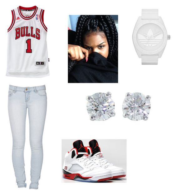 """Basketball game"" by shortproud ❤ liked on Polyvore featuring Lee, Retrò, adidas and Tiffany & Co."