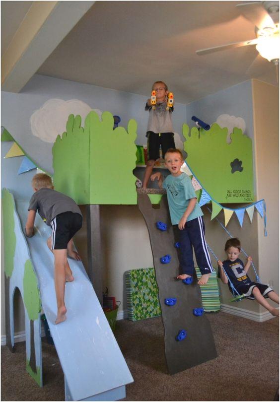 Top 10 playfull diy playhouse projects playroom ideas for Diy indoor playhouse