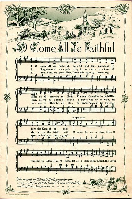 Printable Christmas songs; 'O Come All Ye Faithful' is the only song I know how to sing in Latin. I want to do a journal page about this at some point...