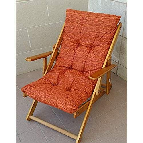 avec coussins rembourr/és salon Pour s/éjour camping h 100 cm cuisine Chaise longue pliante en bois