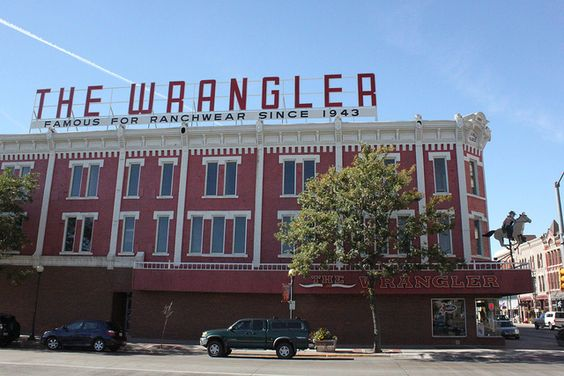 The Wrangler store in Cheyenne, Wyoming and they host one helluva booth at the rodeo!!!!! Had a ball!