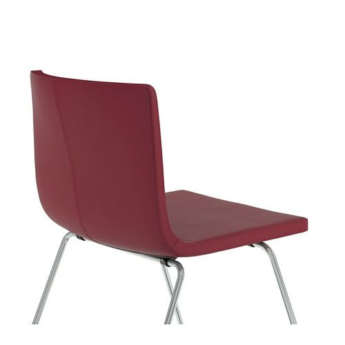 Sedie In Pelle Bianca Ikea.Bernhard Sedia Cromato Mjuk Rosso Scuro Idee Ikea