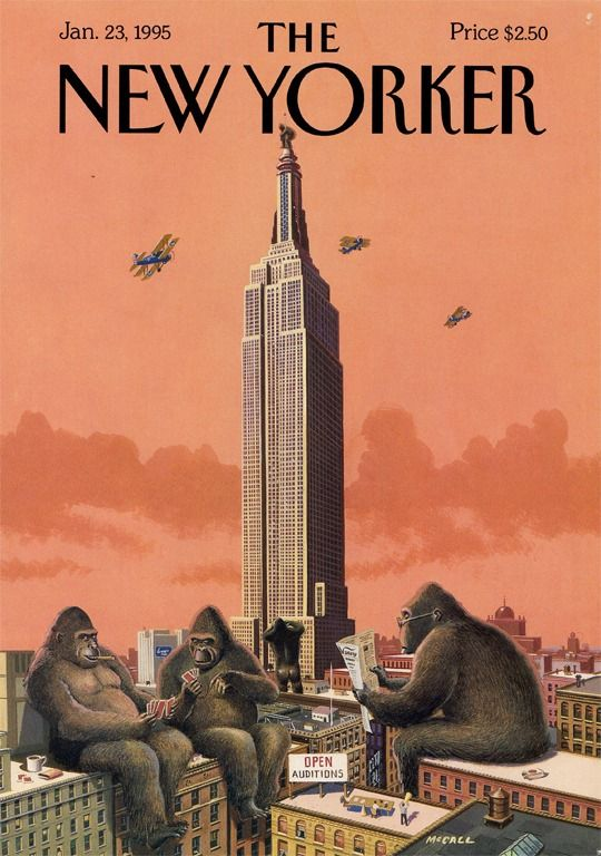 Bruce McCall illustrates the wacky realities of life in New York City in his playful New Yorker covers.