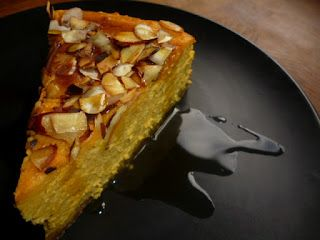Lime, Pumpkin and Ginger Cheesecake with pure maple syrup