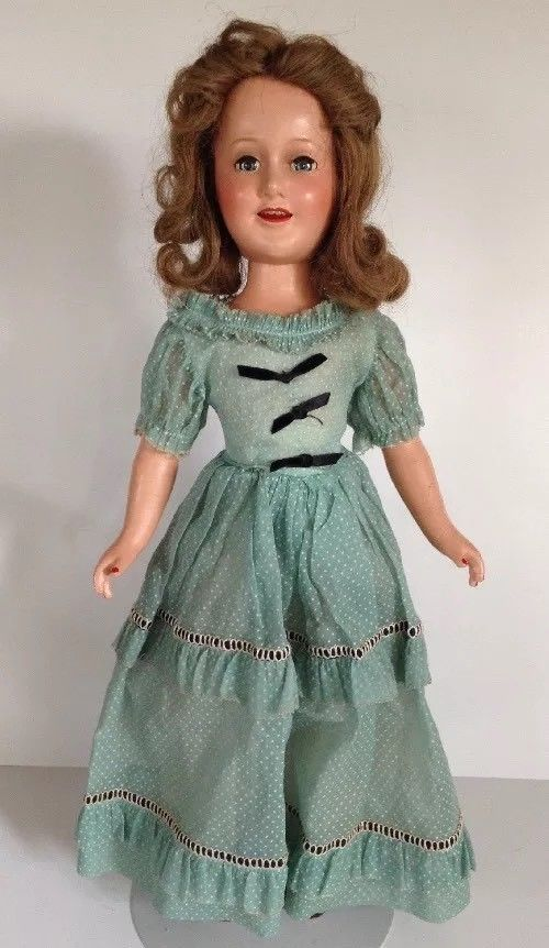 """Deanna Durbin  Flower Dress For 21/"""" Comp doll from 1930/'s #4 VERY NICE"""