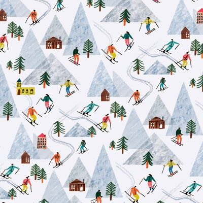 Illus: Charlotte Trounce for Wrap Magazine. Holiday 2013. via print & pattern.