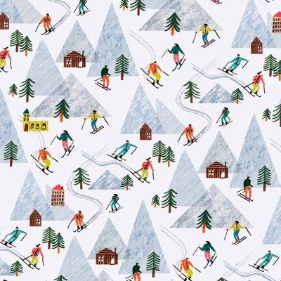 Illus: Charlotte Trounce for Wrap Magazine. Holiday 2013. via print & pattern.